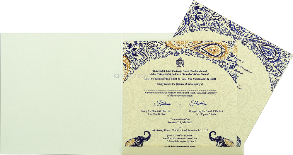 Custom Wedding Cards - CZC-8910 - 4