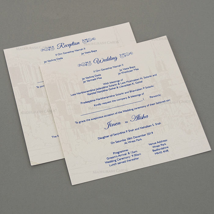 Designer Wedding Cards - DWC-18054 - 4