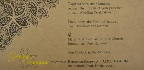 Kraft Wedding Invitations - KWC-9204 - 5