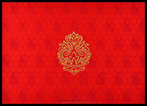 test Fabric Wedding Cards - FWI-8833RG
