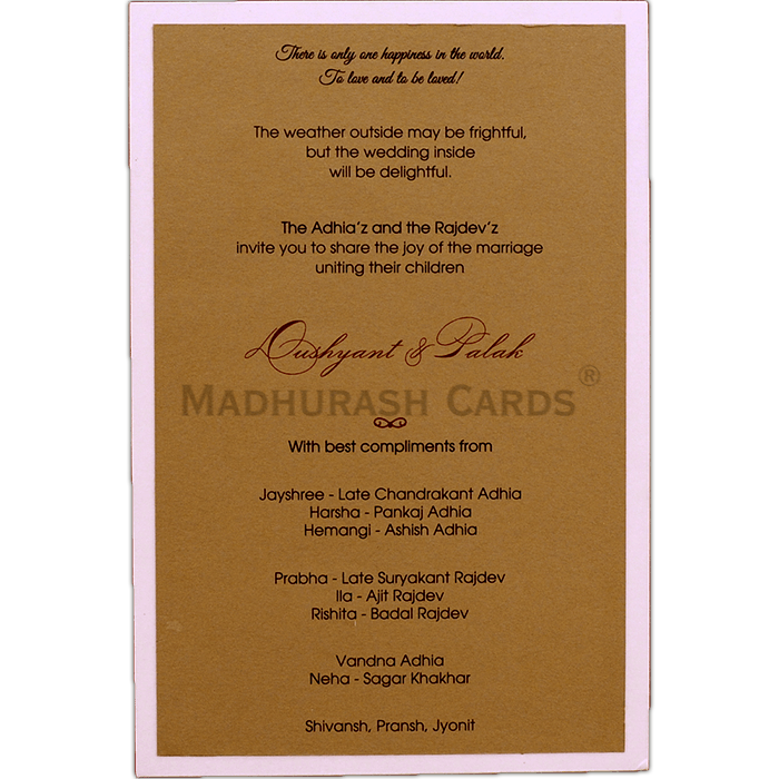 test Kraft Wedding Invitations - KWC-9536