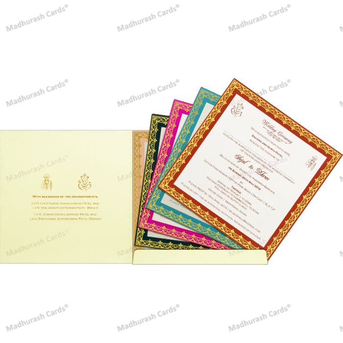 Custom Wedding Cards - CZC-9425 - 4