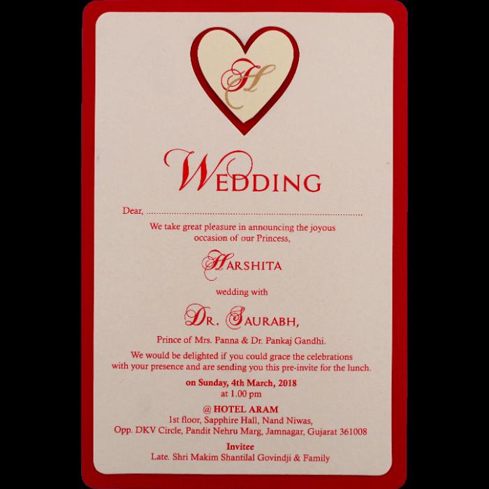 Personalized Single Invites - PSI-9543R - 4
