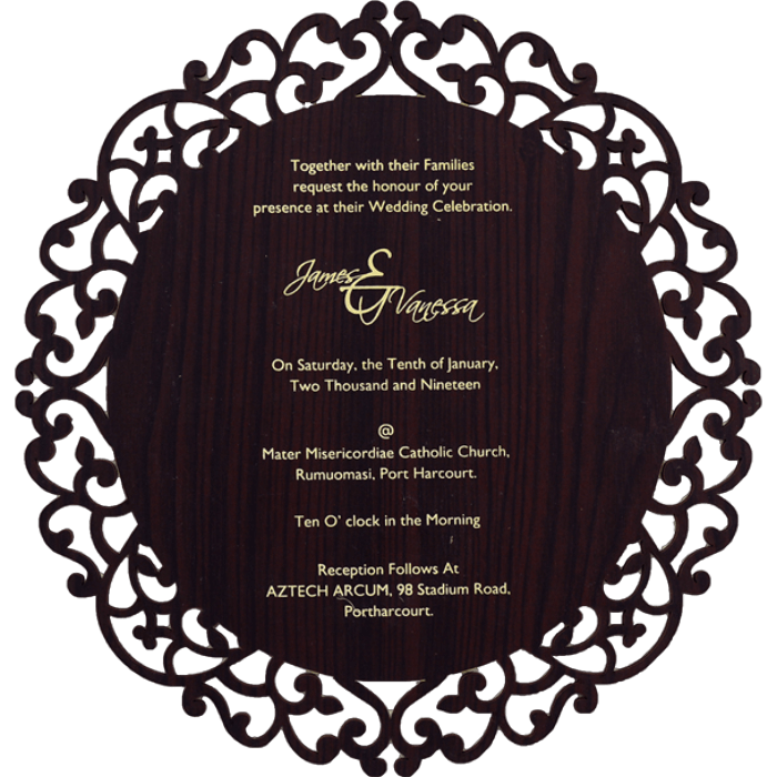 test Bar & Bat-Mitzvah Invites - BBMC-9725BR