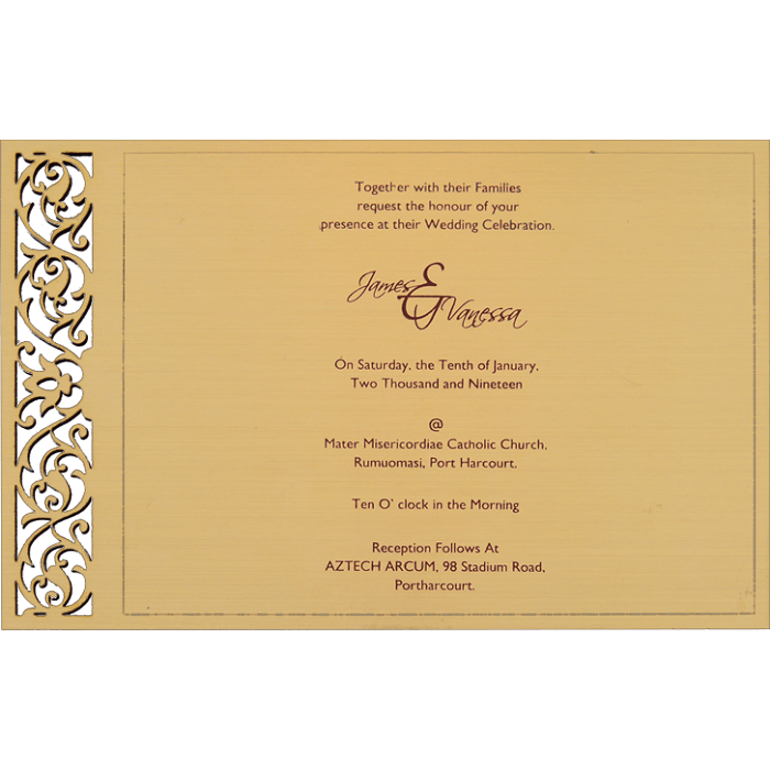Personalized Single Invites - PSI-9734 - 3