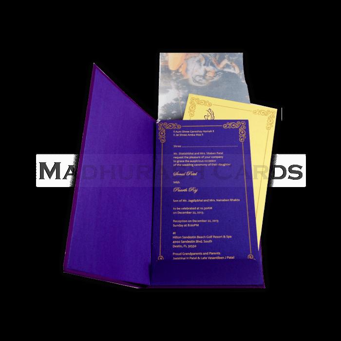 Hard Bound Wedding Cards - HBC-4327 - 4