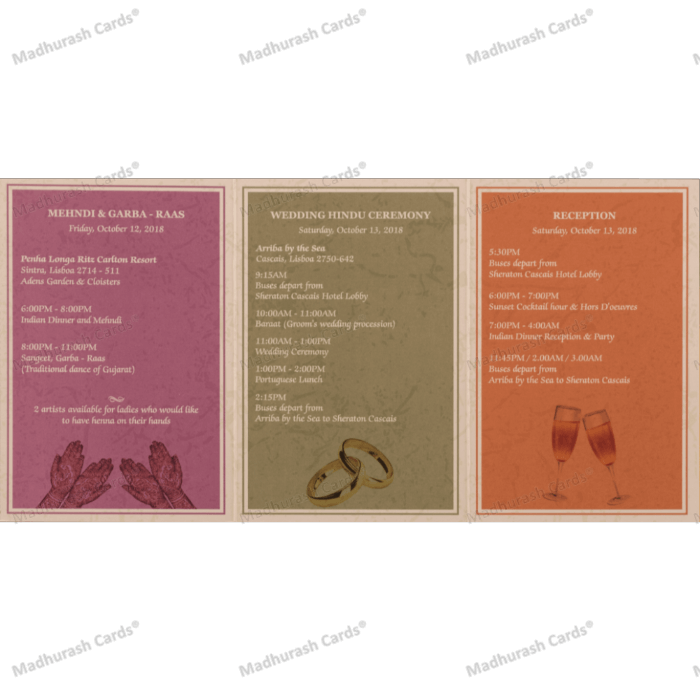 Menu Cards - Key Plan - MC-MC-733 - 3