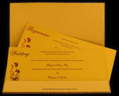 Hard Bound Wedding Cards - HBC-4359 - 4