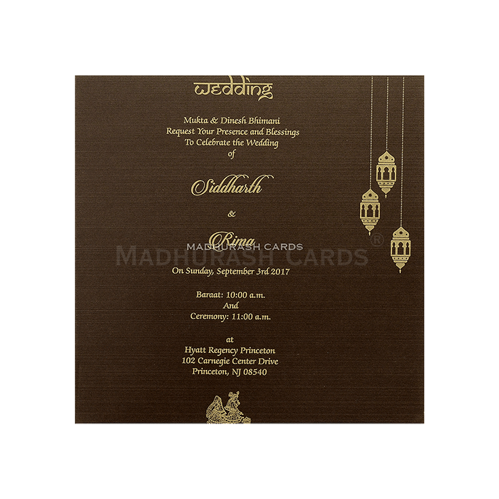 Muslim Wedding Cards - MWC-14100 - 5