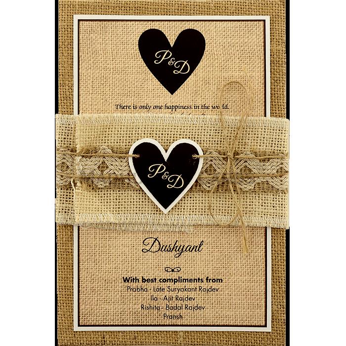 test Kraft Wedding Invitations - KWC-9401B