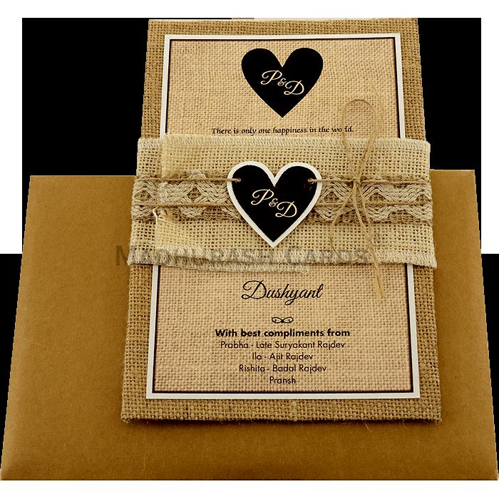 Kraft Wedding Invitations - KWC-9401B - 3