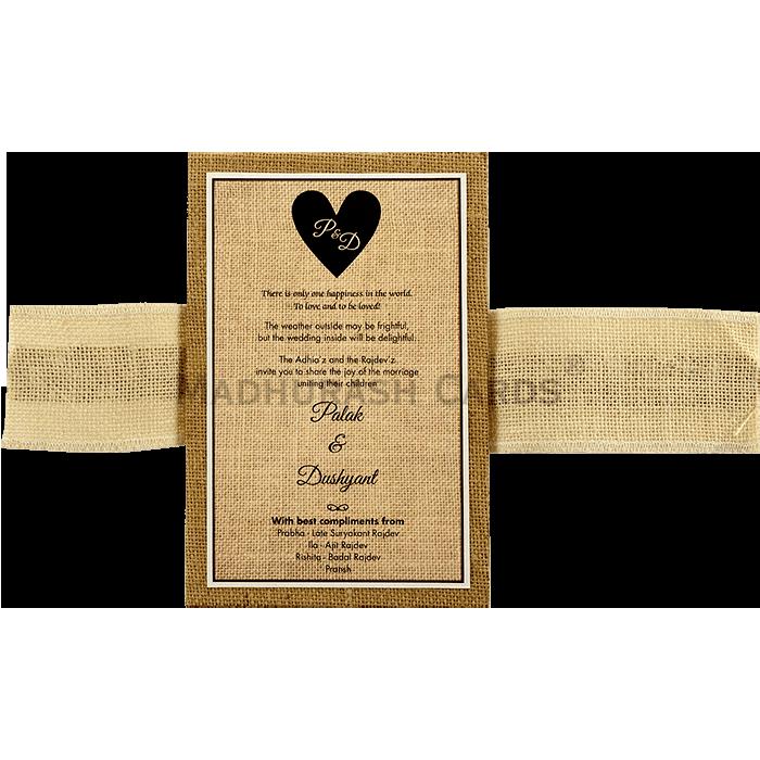 Kraft Wedding Invitations - KWC-9401B - 5