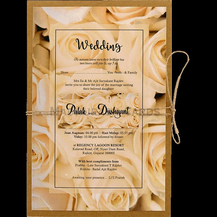 test Kraft Wedding Invitations - KWC-8946