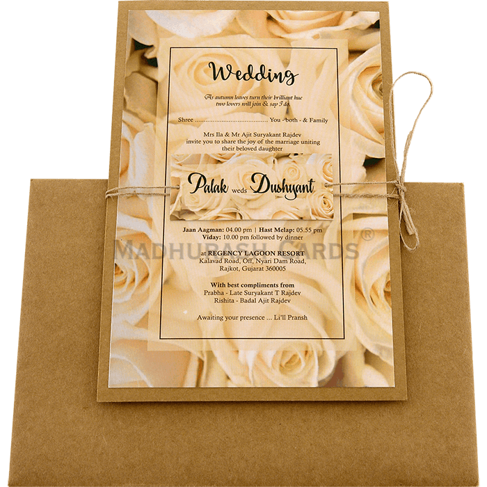 Kraft Wedding Invitations - KWC-8946 - 3