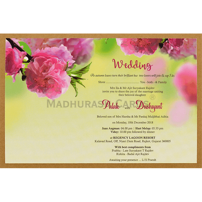 Custom Wedding Cards - CZC-8944 - 4