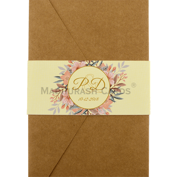 test Kraft Wedding Invitations - KWC-9468