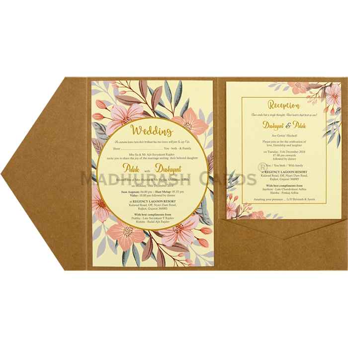 Kraft Wedding Invitations - KWC-9468 - 5