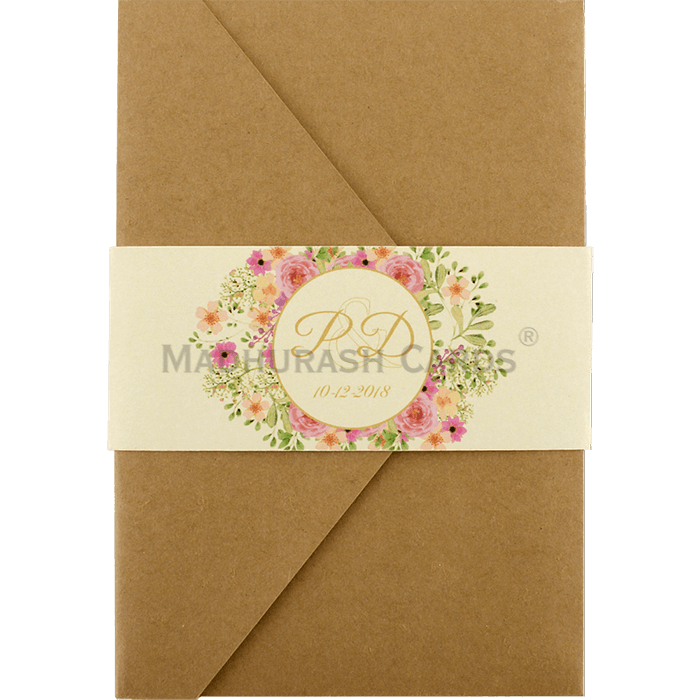 test Kraft Wedding Invitations - KWC-9470