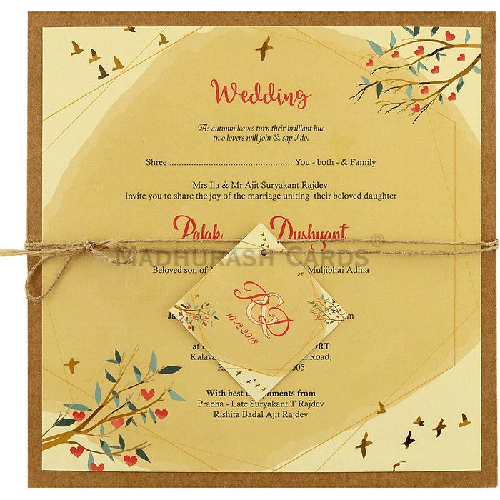 Kraft Wedding Invitations - KWC-9479 - 3