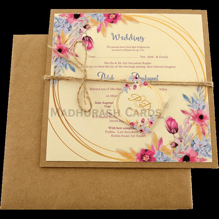 test Kraft Wedding Invitations - KWC-9480