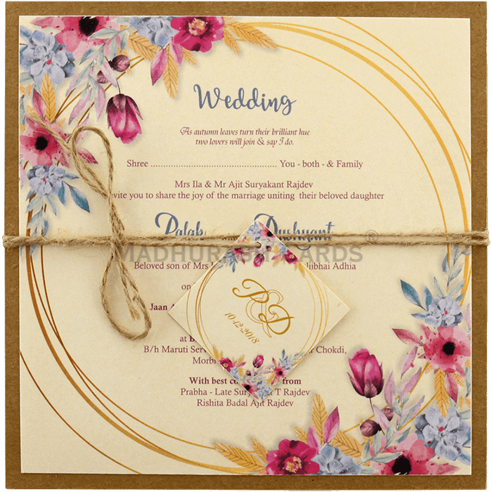 Kraft Wedding Invitations - KWC-9480 - 3