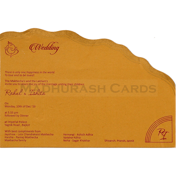Hindu Wedding Cards - HWC-4478 - 5