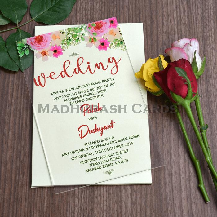 Acrylic Wedding Invites AWI-8864