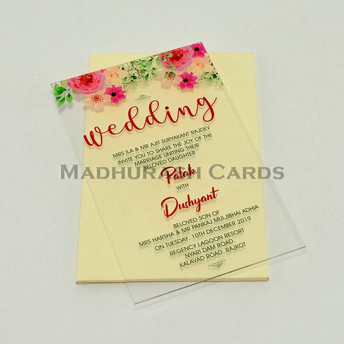Acrylic Wedding Invites - AWI-8864 - 5