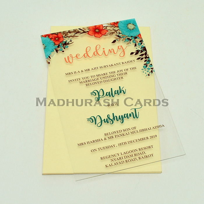 Acrylic Wedding Invites AWI-8867