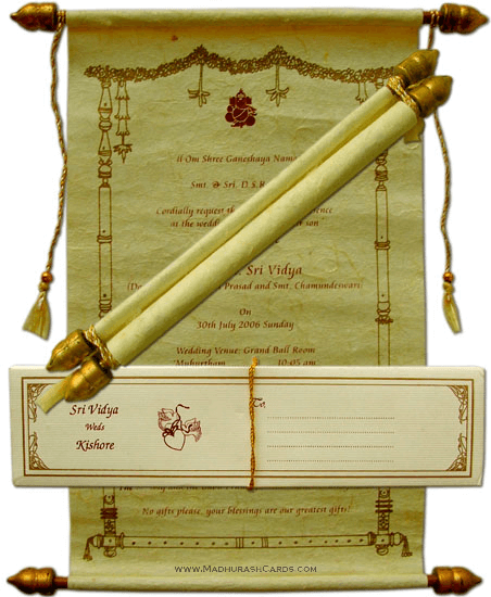 test Scroll Wedding Invitations - SC-5061