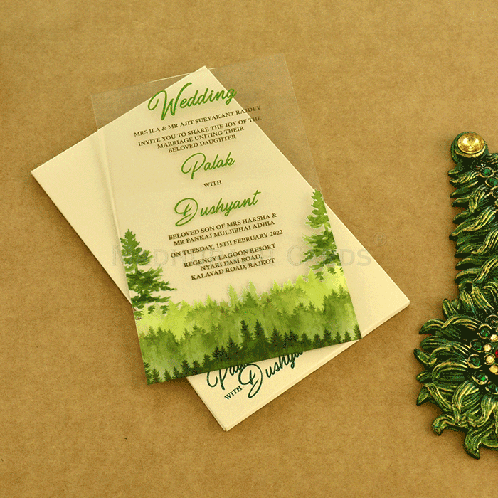 Acrylic Wedding Invites AWI-8870