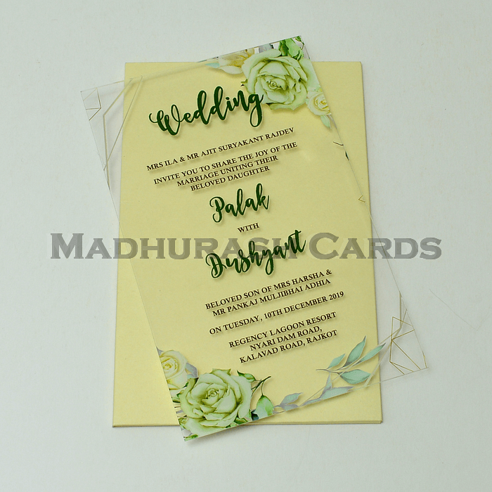Acrylic Wedding Invites AWI-9010
