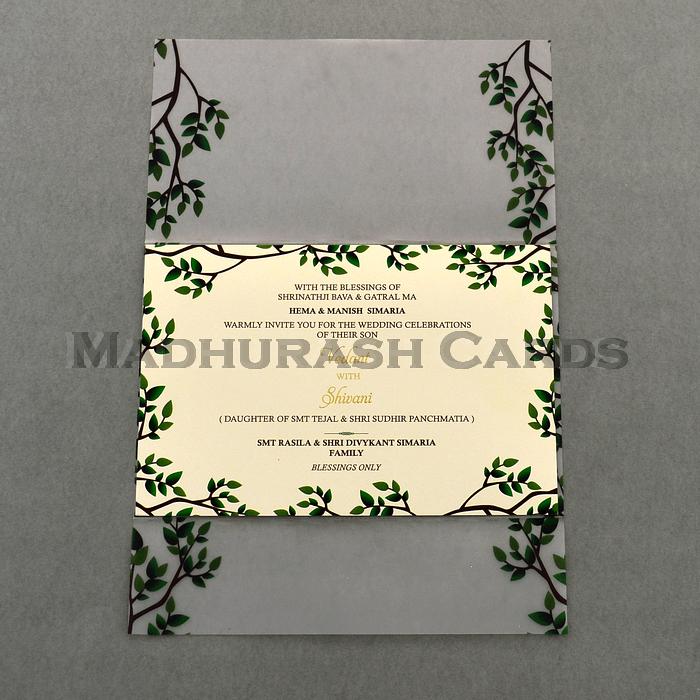 Custom Wedding Cards - CZC-9460A - 4