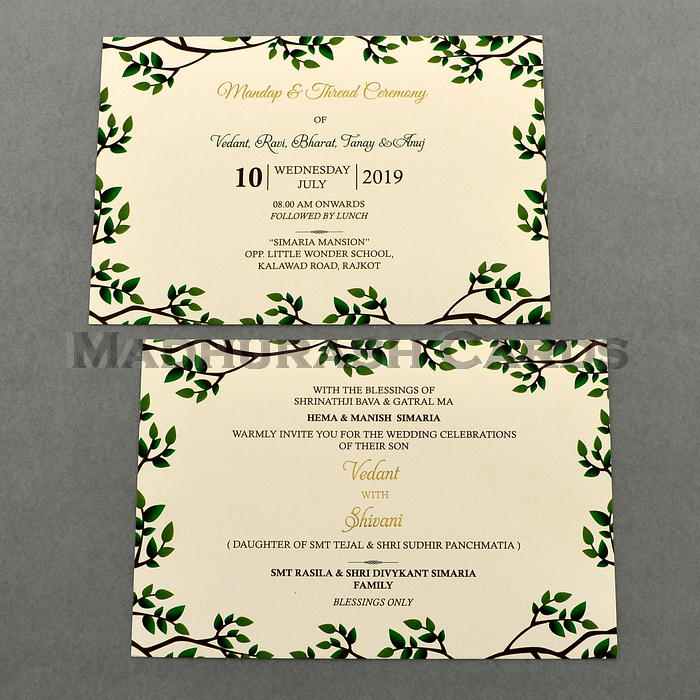 Custom Wedding Cards - CZC-9460A - 5