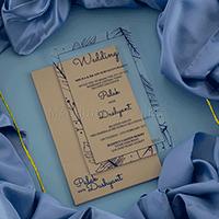 Acrylic Wedding Invites - AWI-8912B