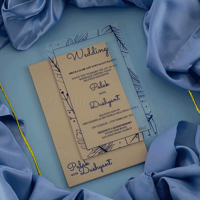 Acrylic Wedding Invites AWI-8912B