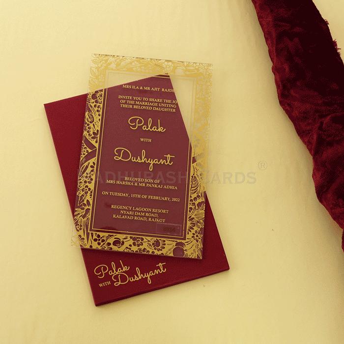 Custom Wedding Cards - CZC-8914G - 3