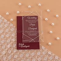 Acrylic Wedding Invites AWI-8915G