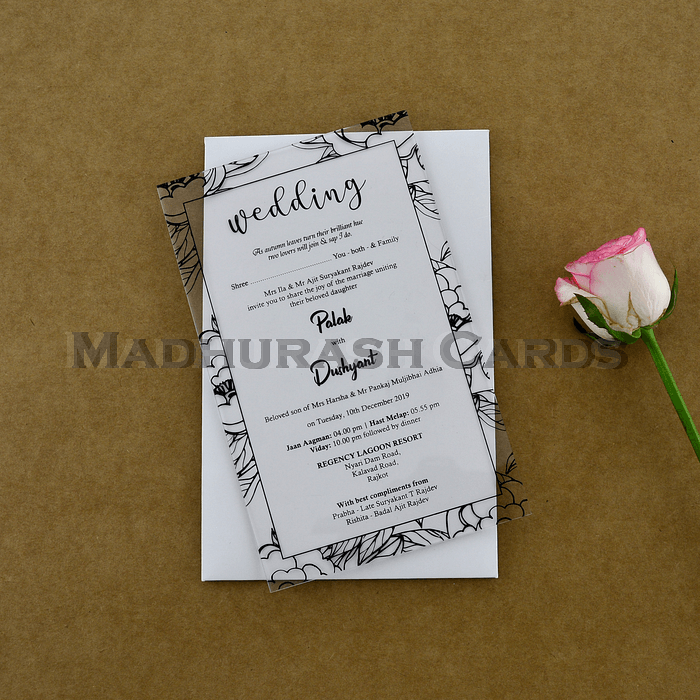 test Custom Wedding Cards - CZC-8917B