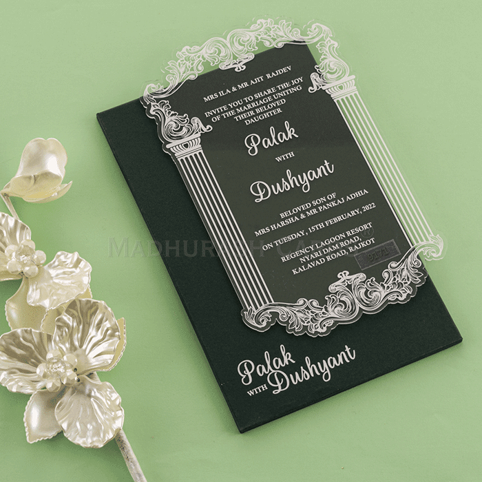 Acrylic Wedding Invites AWI-9171G