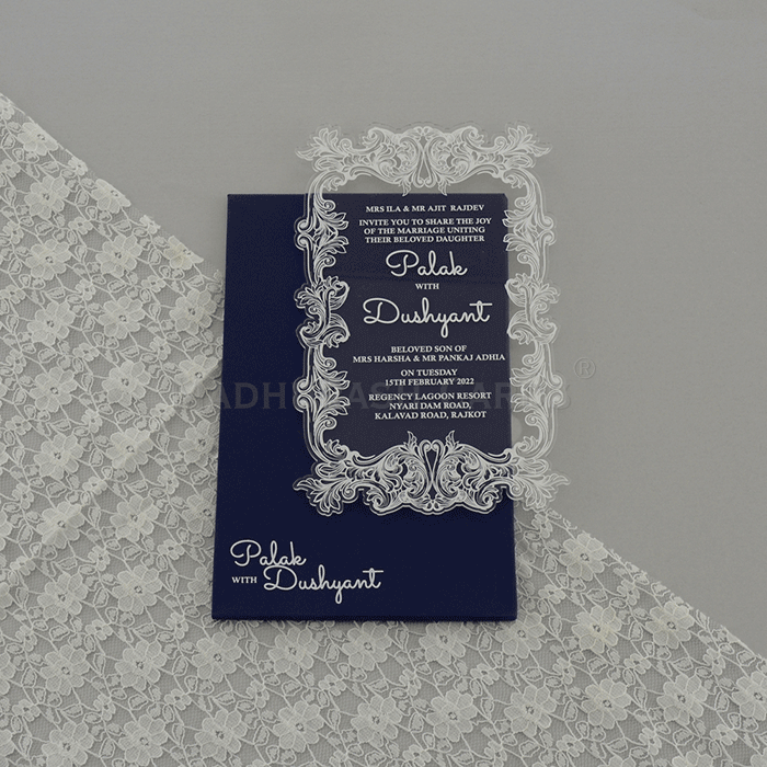 Acrylic Wedding Invites AWI-9172G