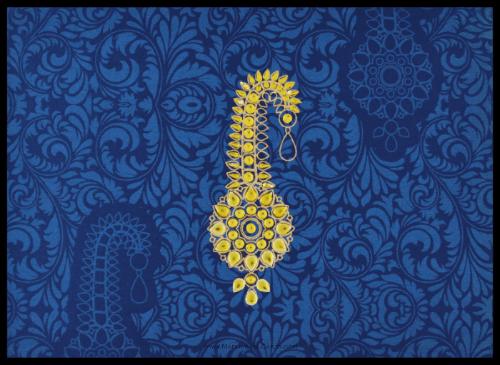 test Fabric Wedding Cards - FWI-8835BG