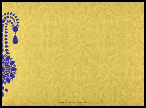 Fabric Wedding Cards - FWI-8835BG - 3
