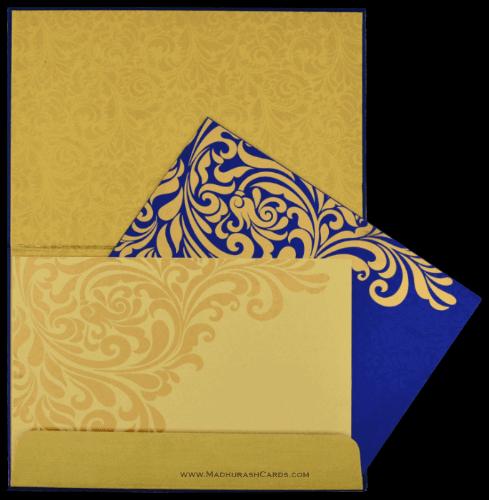 Fabric Wedding Cards - FWI-8835BG - 4