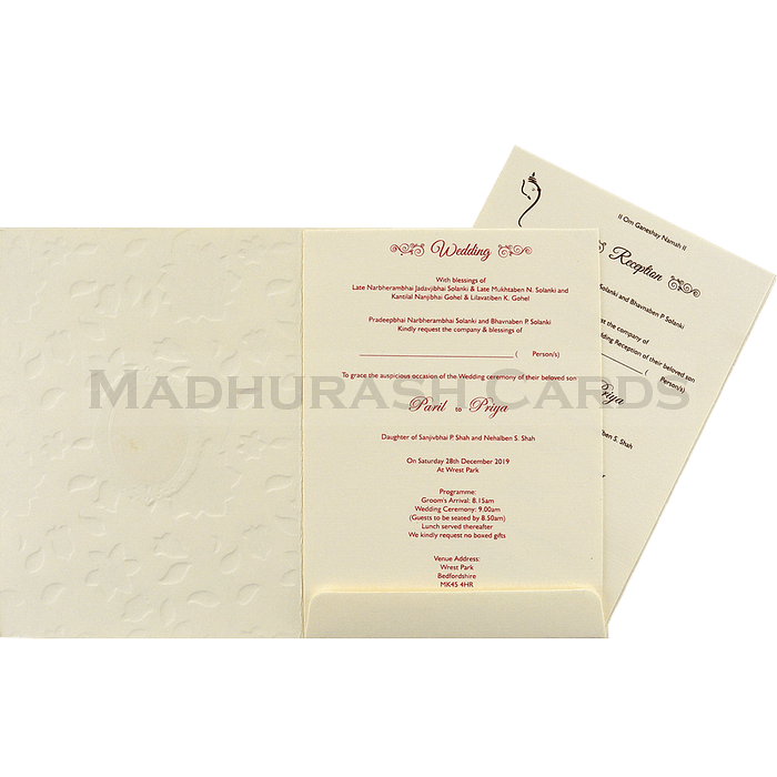 Hindu Wedding Cards - HWC-18226 - 4