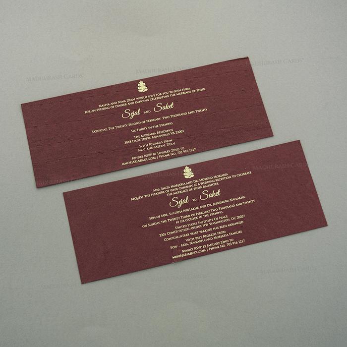 Designer Wedding Cards - DWC-7126 - 4