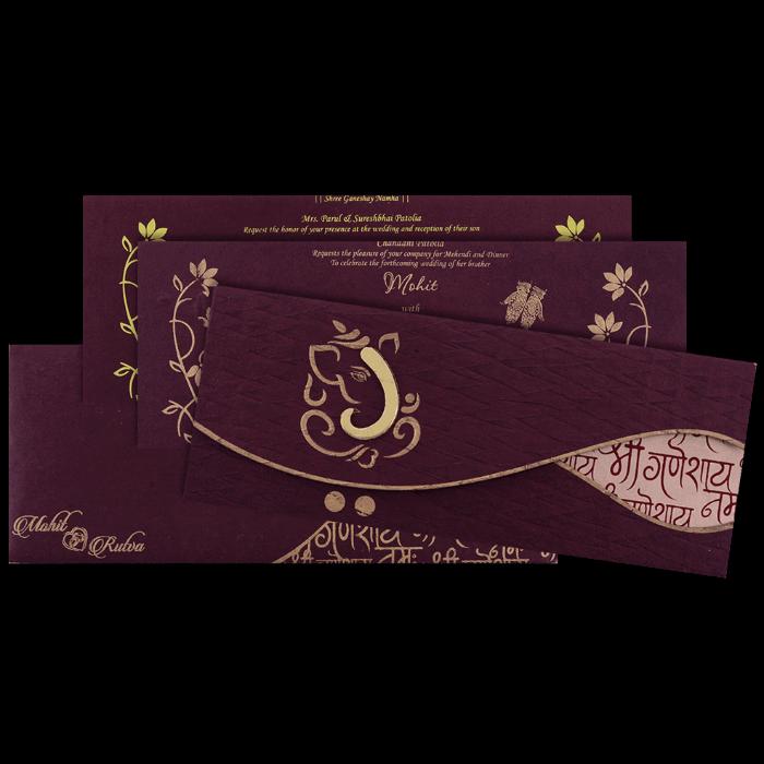Designer Wedding Cards - DWC-7126 - 5