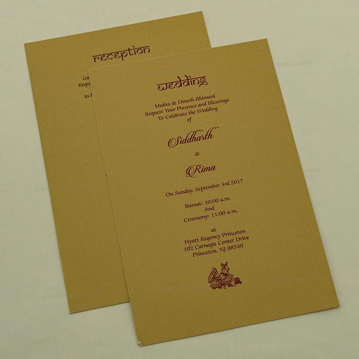 Designer Wedding Cards - DWC-14127 - 4