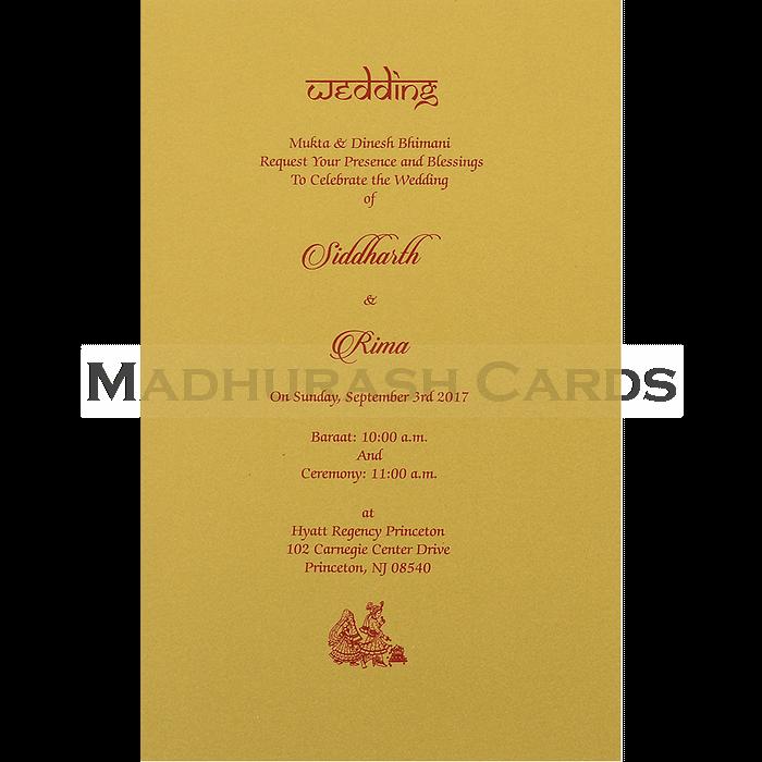 Designer Wedding Cards - DWC-14127 - 5