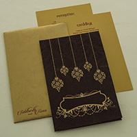 Fabric Wedding Cards - FWI-14127